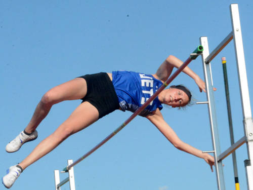 Franklin Monroe's Selene Weaver will compete in the Division III girls pole vault during the Ohio High School Athletic Association state track and field meet.
