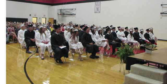 Mississinawa Valley High School graduates, along with family and friends, receive their diplomas in the commencement ceremony on Friday.