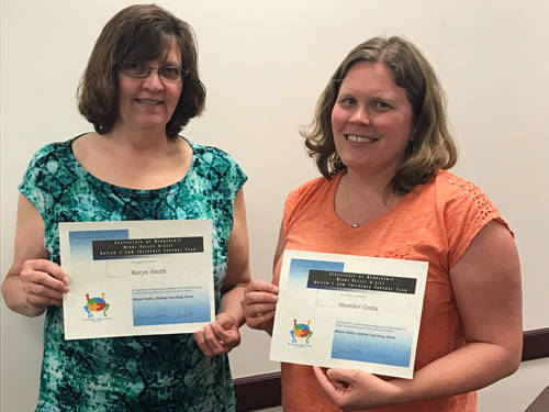 Darke County educators Heather Costa and Karyn Smith were nominated to the Miami Valley Autism Coaching Team's A-LIST year for their work with students with complex disabilities.
