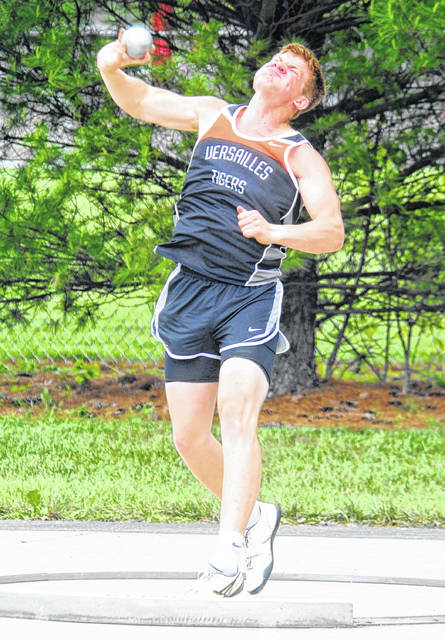 Versailles boys track and field athlete AJ Ahrens and Versailles girls track and field athlete Lucy Prakel have been named this week's Daily Advocate athletes of the week.