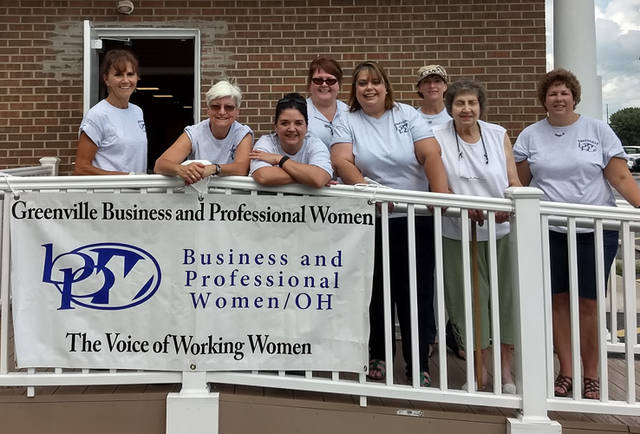 Greenville Business and Professional Women's Club held its chicken barbecue fundraiser. Pictured (l-r) are BPW members Susan Fowble, Peggy Foutz, Kasey Christian, Vicki Cost, Annette Sanders, Deb Niekamp, Betty Kosier and Dorothy Poeppelman.