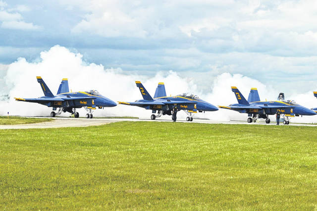 The U.S. Navy's Blue Angels were one of the highlights of this year's Dayton Air Show, which drew an estimated 62,000 attendees.
