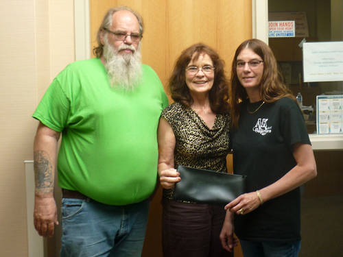 Borderline Club donated $8,153 to the Cancer Association of Darke County. Pictured (l-r) are Bud Kautz, Christine Lynn and Tracey Kautz.