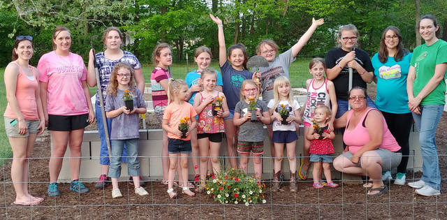 The Arcanum Girl Scout Troop No. 32131 has constructed a garden located in Ivester Park in Arcanum.