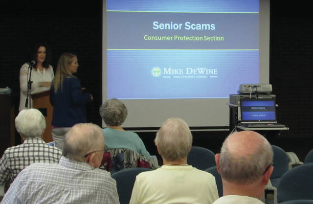 Ohio Attorney General's Office Consumer Educator Danielle Murphy spoke with residents at the Brethren Retirement Community last week about the prevalence of scams and other forms of fraud which target seniors.