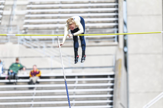 University of Akron freshman Jenna Frantz, who is a graduate of Versailles High School, recently competed in the USA Track & Field Junior Outdoor Championships on the campus of Indiana University in Bloomington, Ind. She placed ninth in the pole vault competition with a jump of 12 feet, 9.5 inches and is now headed to Spain for a six-week study abroad class.