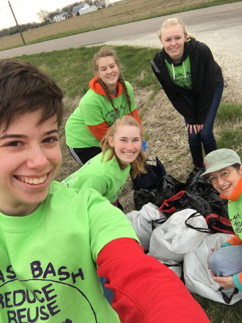 Eight Midmark teams participated in the Trash Bash clean-up effort in Darke County .