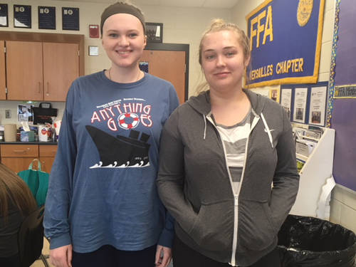 The Versailles FFA competed at the State FFA Aquarium Management CDE. Two of the members who competed included (l-r)Tessa Tyo and Jamie Hart.