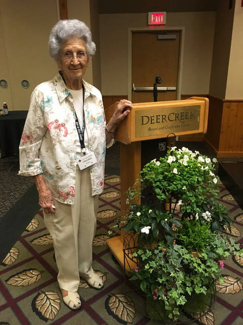Virginia O'Dell was honored by the Ohio Association of Garden Clubs as an outstanding garden club member and outstanding amateur gardener for Region 3 of Darke, Preble and Montgomery counties.