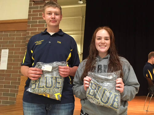 The Versailles FFA named two SAE members of the month at its May FFA meeting. SAE members of the month include Jacob Wuebker (left) and Cassie Parsons (right).