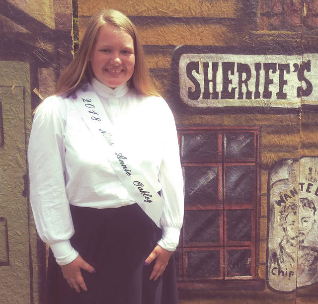 Morgan Hissong, 17, of Bradford, won the shooting competition and was crowned Miss Annie Oakley. Hissong is the fourth woman in her family to claim the honor.