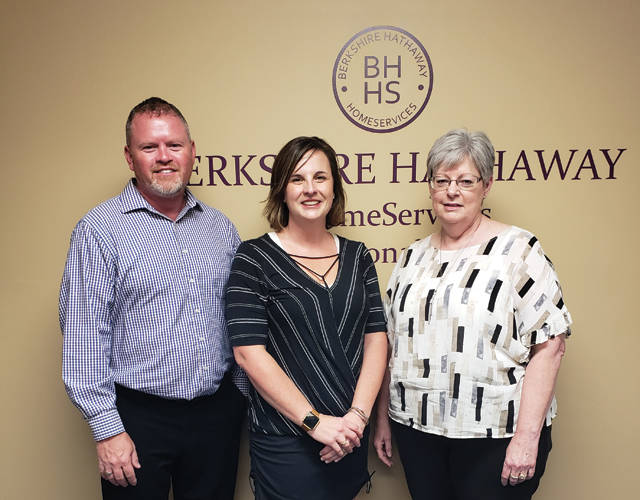 Darke County Center for the Arts Barbecue and Blues sponsors Merry Lee Cross and Shaun Hayes of BHHS Pro Realty are pictured with DCCA Executive Director Andrea Jordan.