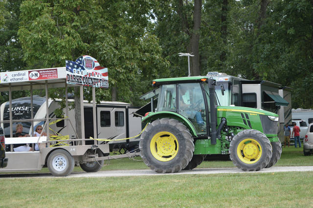 Tractor shuttles (shown) will no longer be used to transport fairgoers during the Darke County Fair, in light of three accidents which occurred at last year's fair. Instead, golf carts will be utilized.