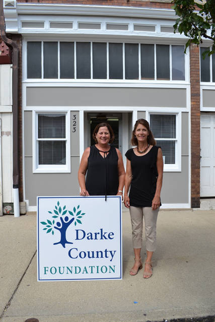 The Darke County Foundation moved to a new location at 323 S. Broadway St., Greenville. Pictured (l-r) are Finance Manager Beth Serraino and Executive Director Christy Prakel.