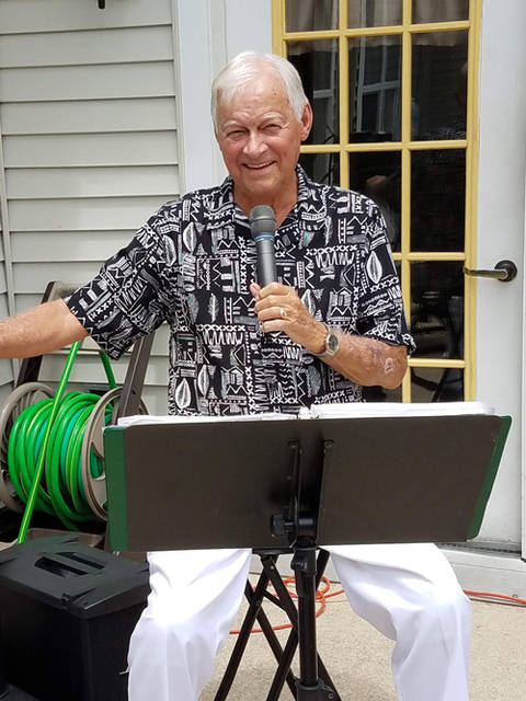 Gene Sherfy performed at Oakley Place's Concert in the Courtyard.
