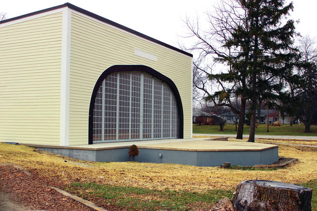 Park Board member Dale Musser wants to order a set of bronze plaques that would bear the names of all Darke County residents and businesses that donated toward the building of the new Marling Bandshell.