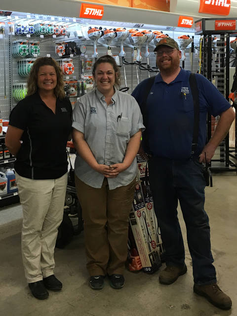 Orme Hardware of Arcanum is a Gold sponsor for the Darke County Food Truck Rally & Competition. Pictured are Orme Hardware Store Manager Rob Bonds, Orme Hardware Assistant Manager April Raby and Orme Hardware District Manager Michelle Hysong.