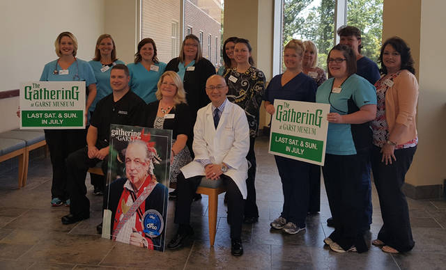 Reid Specialty Physicians and staff are pictured as part of Reid Health's sponsorship of The Gathering at Garst.