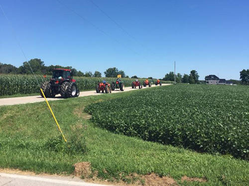 Eighteen participants joined the Darke County Farm Bureau's fourth annual Tractor Cruise.