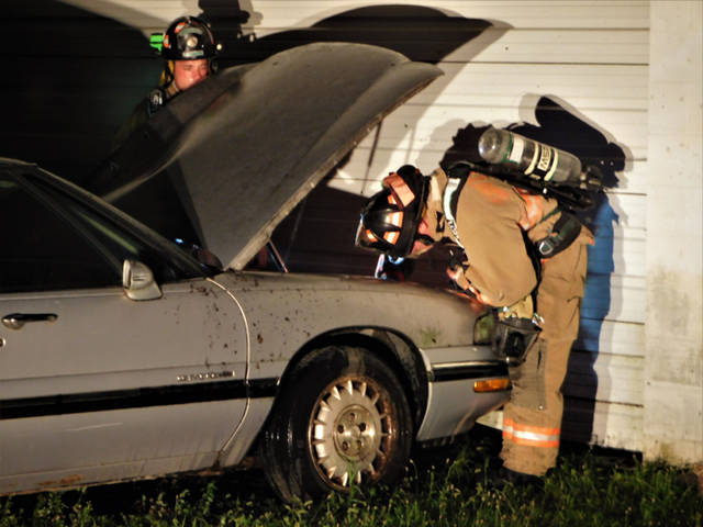 An early morning car fire destroyed a vehicle on Monday in Greenville.