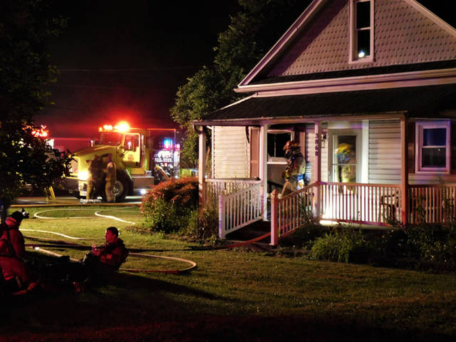 A early morning fire at an unoccupied house at 3860 State Route 121 outside of Greenville is under investigation.