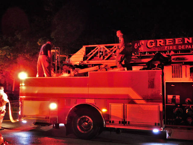 Crews arriving on the scene were quick to request mutual aid at a garage fire early Monday in Greenville.