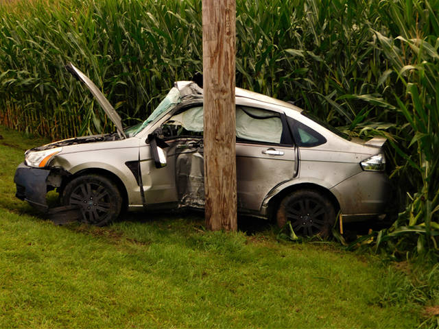 Two 18-year-old men walked away from a crash on State Route 121 with minor injuries.