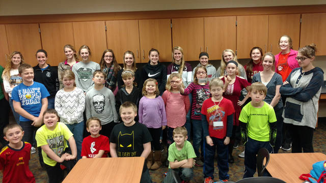 Versailles Elementary and High School students participate in Big Brothers Big Sisters of Shelby & Darke County's after-school Big Buddies mentoring program.
