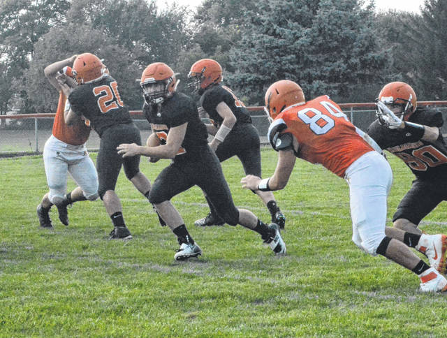 The Bradford football team competed in a scrimmage at National Trail on Friday.