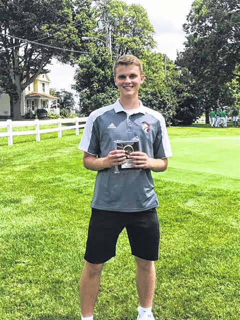 Arcanum's Carter Gray was the third-place individual at the Kendig Memorial golf tournament on Wednesday at Echo Hills Golf Course in Piqua.