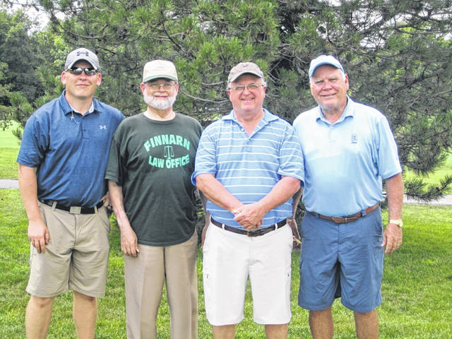 The Finnarn Law Office golf team came in fourth place in the recent Darke County Chamber of Commerce golf outing at Stillwater Valley Golf Club. Pictured left to right are: Adam Timmerman, Ted Finnarn, John Buell and Judge Michael Hall of Dayton.