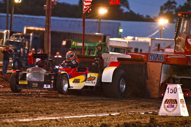 The tractor pulls got started but then were rained out on Tuesday at the Darke County Fair.