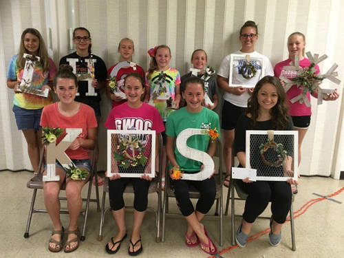 Pictured are Butterflies Junior Garden Club members (seated) Kate Rehmert, Brianna Fellers, Saige Fellers, Eliza Wysong, (standing) Lily Kuhbander, Haley Smith, Audrey Allread, Alivia Addis, Kendall Cromwell, Hannah Smith, Lily Avery. Not shown are Grace Specht and Callee Moore.