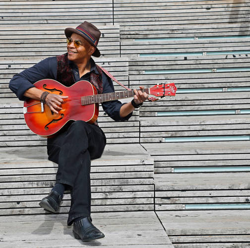 Blues musician Guy Davis, a 2017 Grammy Award nominee for best traditional blues album of the year, will perform in the Hayner Ballroom at 7:30 p.m. Sept. 29.