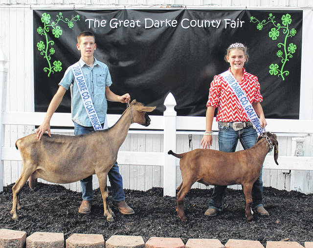 Levi Barga and Amelia Price were named 2018 Goat Prince and Princess at this year's Great Darke County Fair.