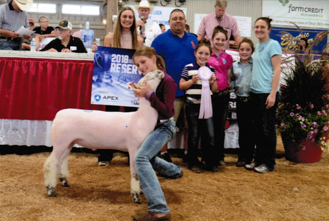 London Reichert, of New Weston, competed against 273 exhibitors with 745 market lambs at the 2018 Ohio State Fair. She had the Reserve Champion Brockle-Face Market Lamb.