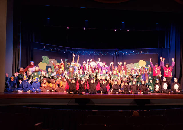 "The cast of ""Snow White & the Seven Dwarfs"" performed at St. Clair Memorial Hall."
