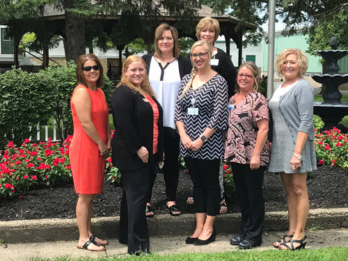Partners in Care of Darke County will sponsor entertainment during the Darke County Fair. Pictured are (front row, l-r) Christena Sharp of State of the Heart Hospice, Jamie Welch of Rest Haven, Jessica Hester of Village Green, Renee McGhee of JAG Healthcare, Sandy Baker of Oakley Place, (back row, l-r) Tina McClanahan of Brookdale Greenville and Jan Teaford of Brethren Retirement Community.