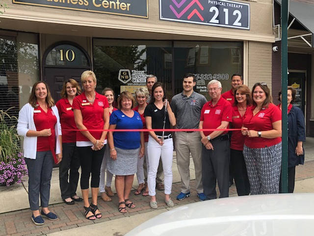 Dr. Kristen Schulte of Versailles opened Physical Therapy 212 in downtown Troy.