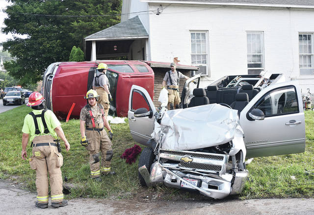 Dailan D. Day, 24, of Lockington, who was driving the red pickup truck, died from a collision with another pickup truck, driven by Paul A. Monnin, 43, of Versailles at the intersection of Hardin-Wapakoneta and state Route 47 at 6:11 a.m. Thursday. Two children in the red pickup truck were not injured beyond some scrapes and bruises. Monnin, the driver of the silver pickup truck, sustained a fracture and was transported by Fort Loramie Rescue to Wilson Health. CareFlight was unable to fly due to foggy weather conditions. The Shelby County Sheriff's Office and Fort Loramie firefighters responded to the scene. Ohio State Highway Patrol also assisted at the scene. Early morning fog may have contributed to the crash.