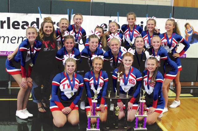 Tri-Village was named the Grand Champion of the 2018 Darke County Fair Cheer Competition on Friday. It is the second year in a row for the Patriots to be crowned grand champion.