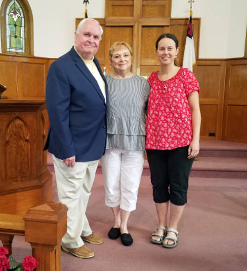 Pictured (l-r) are Pastor Tim Pieper with his wife, RaeAnn Pieper, and youngest daughter, Maria Pieper.