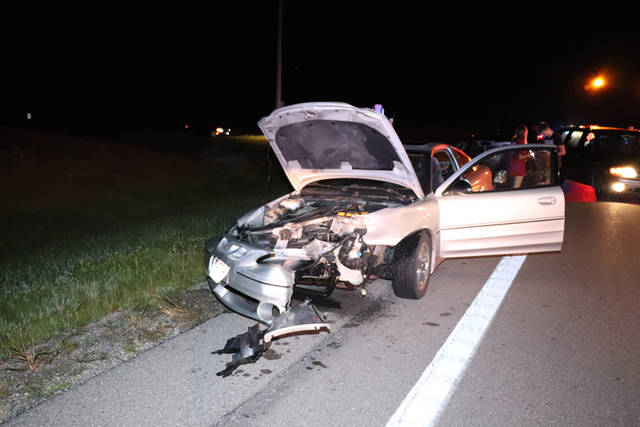 Five people were treated at the scene and released by Tri-Village Rescue following a two-vehicle crash Saturday night.