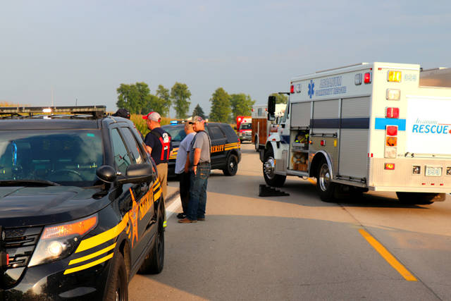 A teen was uninjured after losing control and rolling her vehicle Saturday evening.