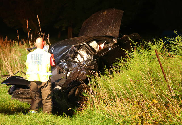 A 22-year-old man was transported by CareFlight to Miami Valley Hospital following a Sunday morning crash.