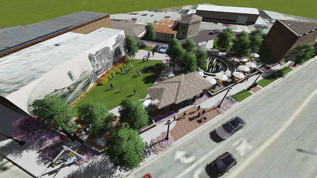 The YOLO organization has raised more than $550,000 for the downtown Greenville Urban Park project and hopes the community will rally to help complete the vision presented in this designers rendering.