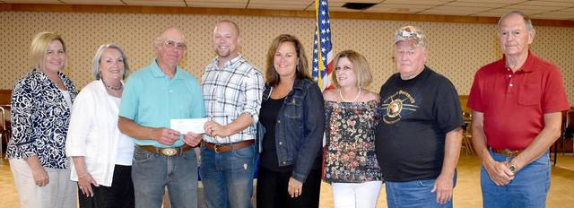 The Greenville Fraternal Order of the Eagles recently gave a donation to the Friends of Bear's Mill, which will be used toward an assessment to repair the sluice under the Mill.
