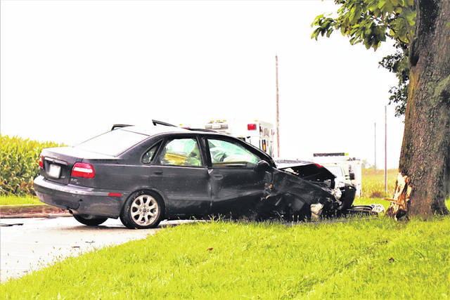 A driver and three juvenile passengers were treated for minor injuries after a car downed a utility pole Thursday at the 4300 block of Otterbein-Ithaca Road, Arcanum.
