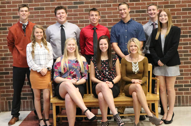 Bradford will crown its 2018 Homecoming royalty prior to its football game on Oct. 5. Pictured are queen candidates (l-r) Macie Reck, Bianca Keener, Elisa Martinez, Karmen Knepp and Amy Roberts and king candidates (l-r) Larkin Painter, Jarrett Boggs, Jackson Moore, Josiah Brewer and Joe Roth.