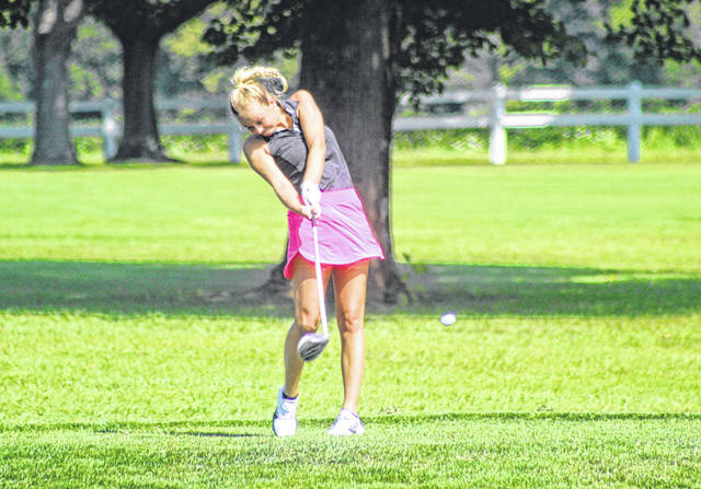 Greenville senior Jada Garland leads the area's girls golf with a 47.73 nine-hole average.